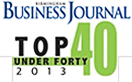 Top 40 under 40 Business Journal badge